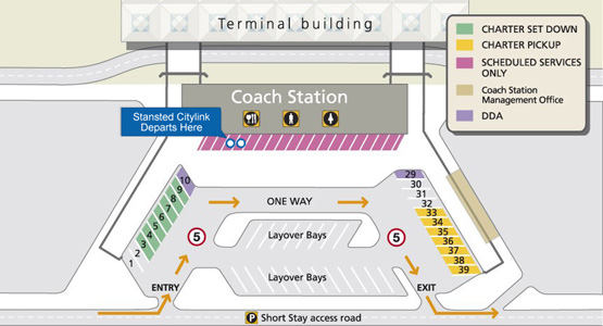 stansted airport coach station map Stansted Citylink Airport Bus To Central London stansted airport coach station map